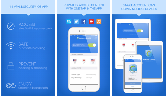 Hotspot Shield iOS VPN iTunes